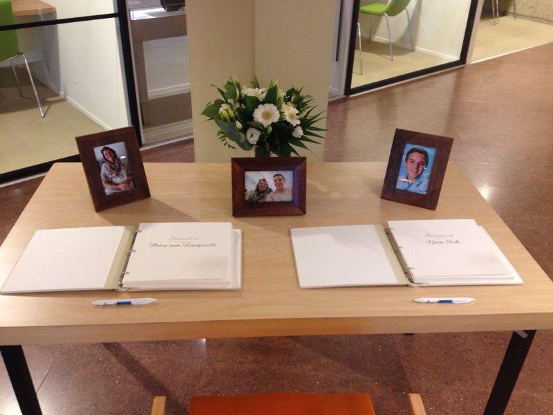 Het condoleance register ligt in het stadhuis van Maassluis